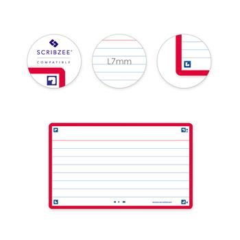 3020120152356 - Oxford flashcards 2.0 gelijnd rood (75 x 125mm)