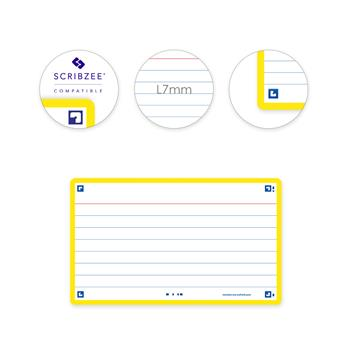 3020120152448 - Oxford flashcards 2.0 gelijnd geel (75 x 125mm)