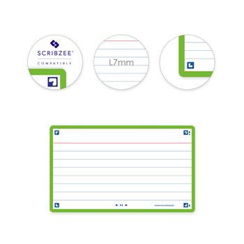 3020120152479 - Oxford flashcards 2.0 gelijnd groen (75 x 125mm)