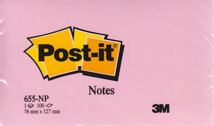 3134375221443 - Memoblok 3M Post-it 655-NRO 76x127mm neon roze