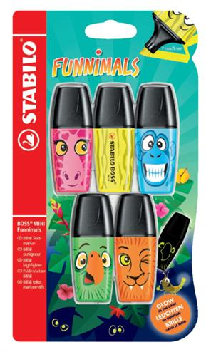 4006381480161 - Markeerstift Stabilo Boss mini funnimals edition