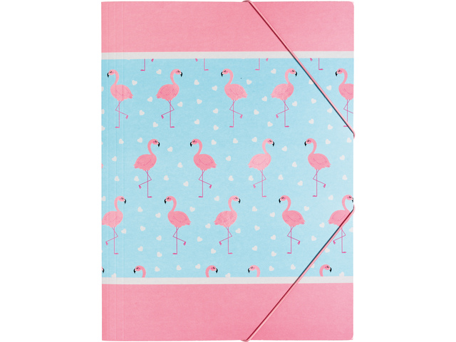 5604730080902 - Flamingo elastomap met elastiek