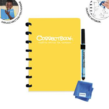 7110761726057 - Correctbook A5 Yellow  Lined