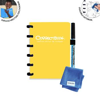 7110762358714 - Correctbook A6 Yellow  Lined