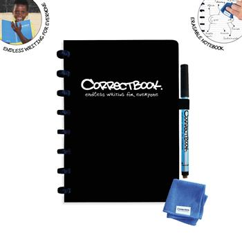 7110763323315 - Correctbook A5 Black Lined