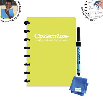 7110766699943 - Correctbook A5 Lime Green  Lined