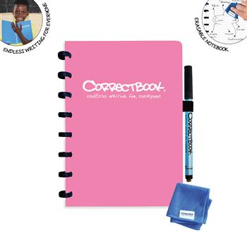 7110768386568 - Correctbook A5 Pink  Lined