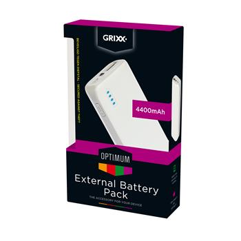 8718969122665 - Grixx Optimum external battery 4400mAh
